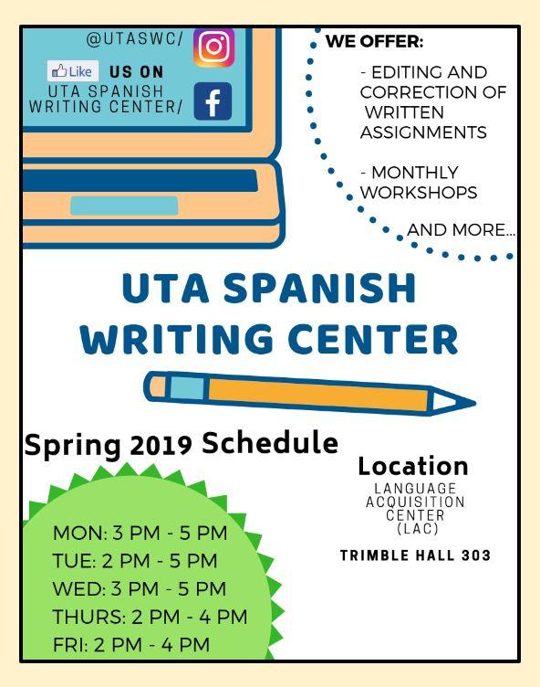 UTA Spanish Writing Center | Español @ UTA