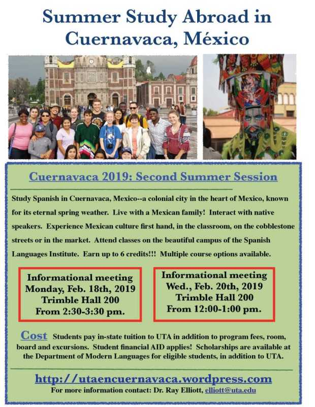 Study Spanish in Cuernavaca, Mexico next summer! | Español @ UTA